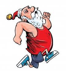 running-santa
